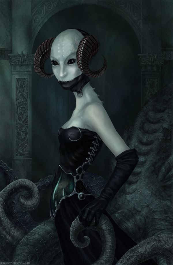 Lillith, for the horns and the overall mood  The Horned She by ~pixelfish