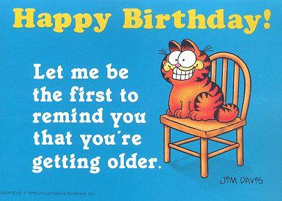 Garfield Happy Birthday