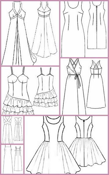 Trazado de patrones o moldería básicos gratis para hacer tu ropa. Corte y…
