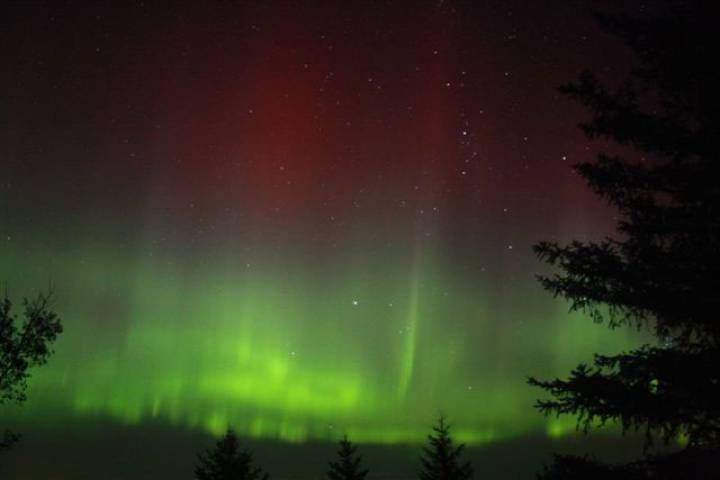 northern lights across Canada
