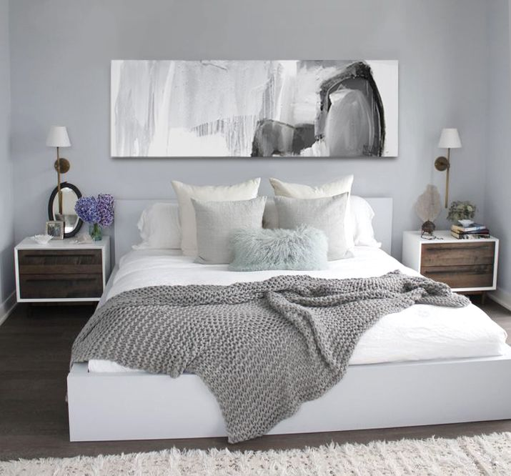 1000 ideas about white grey bedrooms on pinterest white - Black white and gray bedroom ideas ...