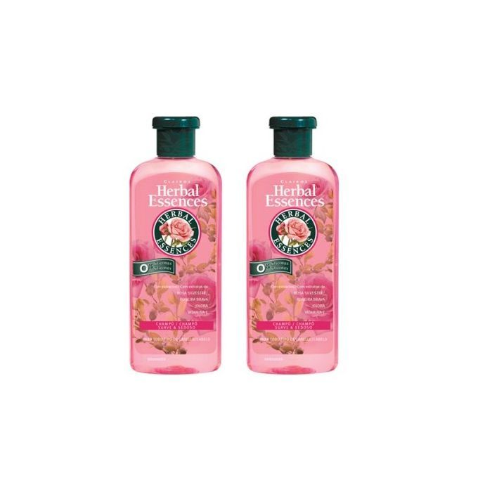 Herbal Essences Collections Lisse Et Brillances Shampooing Sans Silicone 2x400ml