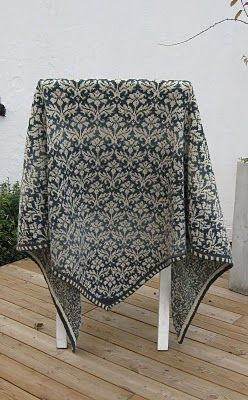 Another version of this beautiful Fair Isle shawl.
