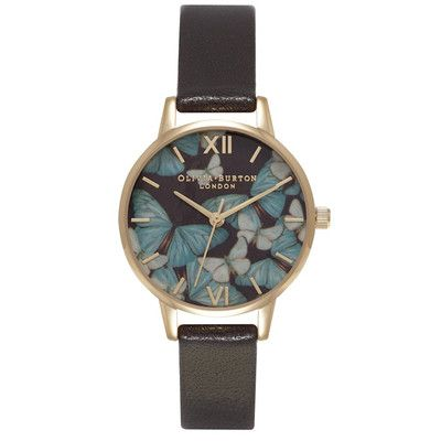 Woodland Multi Butterfly Watch – Dark Chocolate & Gold The Dressing Room - Fashion Styles UK