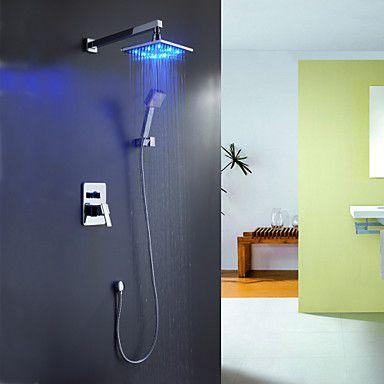 Pommeaux de Douche Sprinkle® , Moderne with Chrome 1 poignée 4 trous , Fonctionnalité for Lumineux LED / Jet pluie de 240100 2016 à €112.69