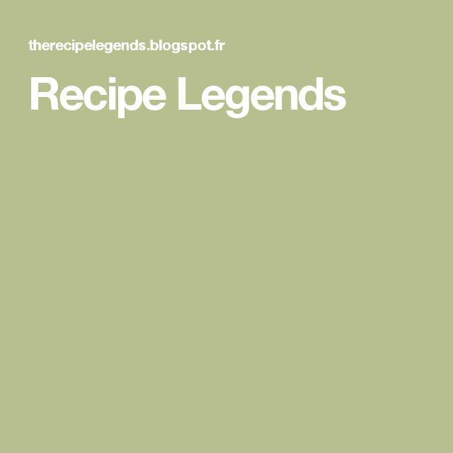 Recipe Legends