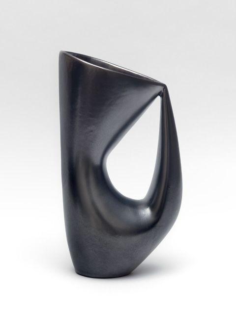 André Aleth Masson-1919-2009. Céramique émaillée noir lustré.