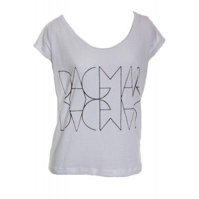 Dagmar - Basic Logo T-shirt White - Kotyr.com