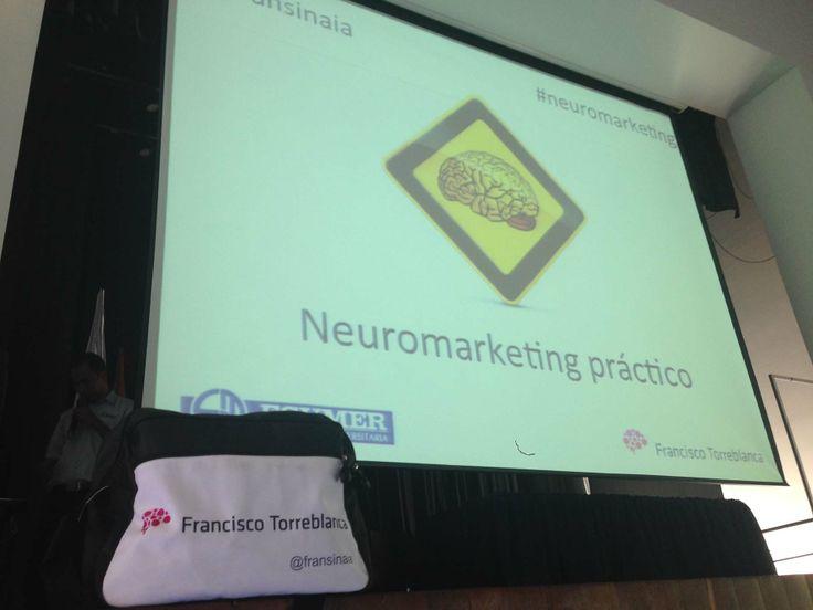 Listo para arrancar la Jornada de Neuromarketing Práctico en Institución Universitaria Esumer (Campus Robledo) de Medellin... mola mi bolsa de @SFOBags eh?