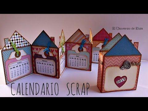Mini Álbum Scrapbook Calendario 2015, Cómo hacer un Calendario Scrap, Scrapbook Calendar   El universo de Elisa