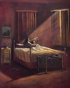 Painting - 2 A M Unknown Light Source by Randol Burns