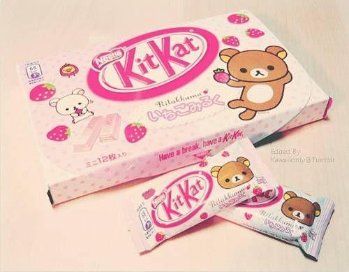 (2250) Rilakkuma KitKat - Next visit to Japan, I'm going to buy a pallet of these! lol.   Japan Snack   Pinterest