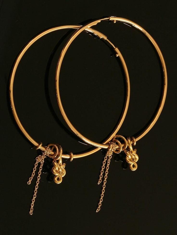 H Stern 18K Gold Sutra Hoop Earrings at London Jewelers
