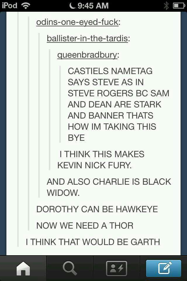 Supernatural avengers