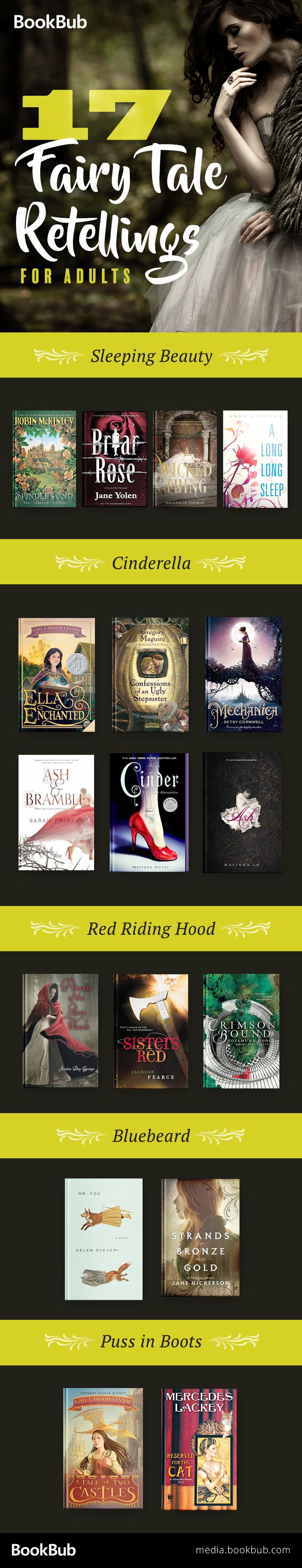 17 fairy tale retelling books for teens and for adults. Including books that put a spin on the popular classic fairy tales for kids.