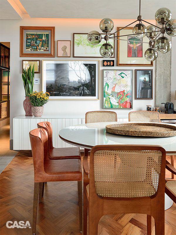 Cores alegres e estampas no apartamento de 200 m2 em Salvador - Casa