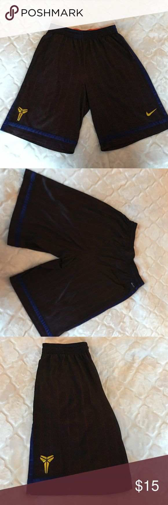 Nike: Kobe Bryant basketball shorts Nike: Kobe Bryant basketball shorts / Maroon and Navy speckle with Gold / XL / Worn a few times Nike Shorts Athletic
