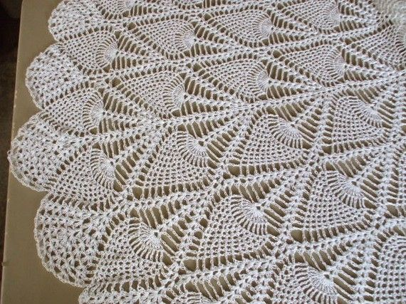 70 Plus Inch Pineapple Tablecloth In White By CousinsCount On Etsy