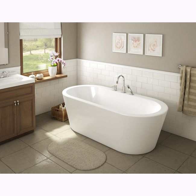 The classic and contemporary lines of the Una bathtub are sure to impress in any decor. Made out of pure acrylic, this bathtub features easy free-standing installation and comes with leveling pads.