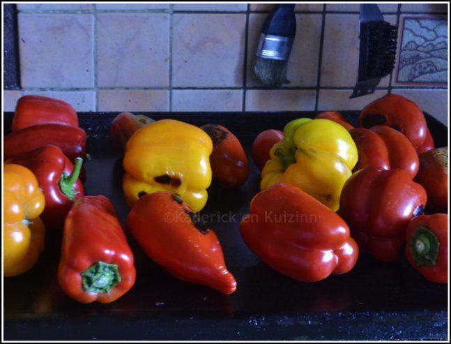 Recette poivrons multicolores à la plancha ©Kaderick en Kuizinn