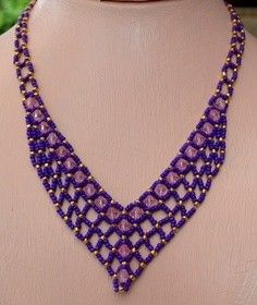 Instant Download! Perfect Purple Necklace Pattern