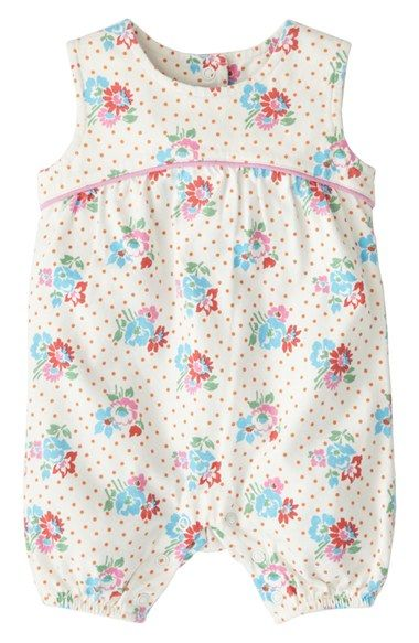 Mini Boden 'Pretty Jersey' Bubble Romper (Baby Girls) available at #Nordstrom