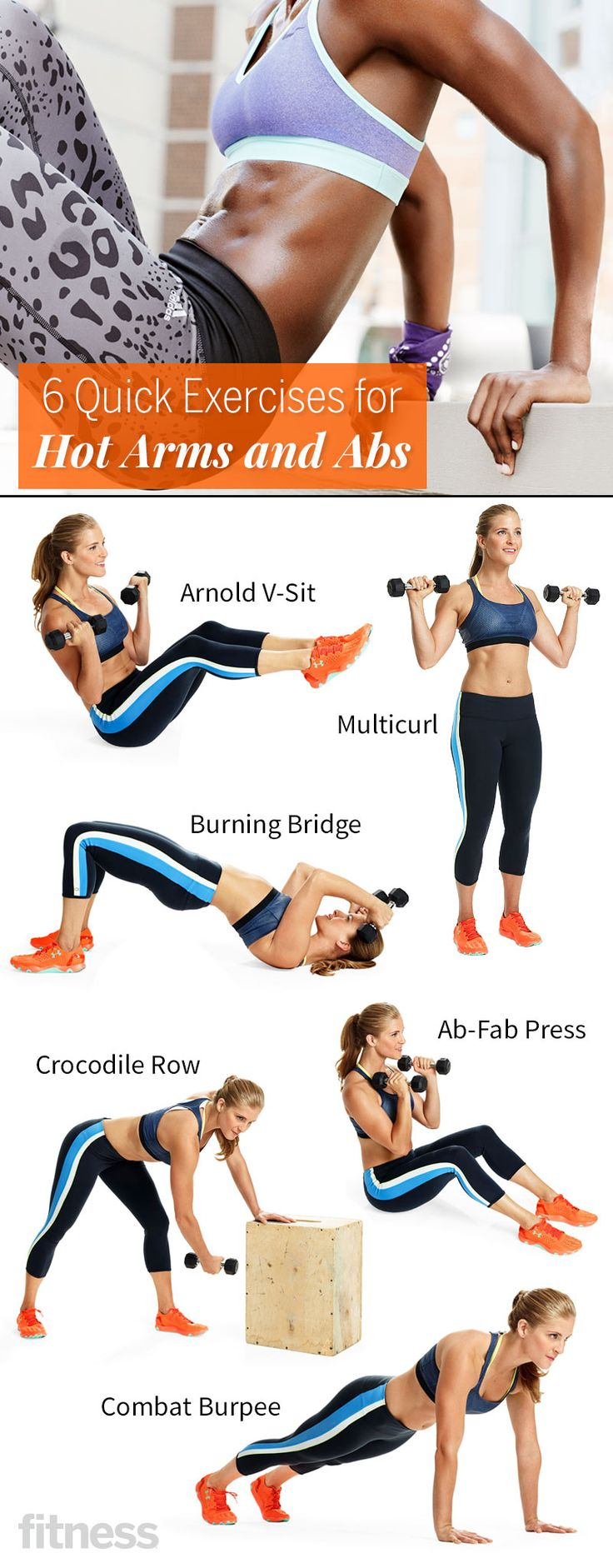 6 Moves for Sexy Arms and Abs