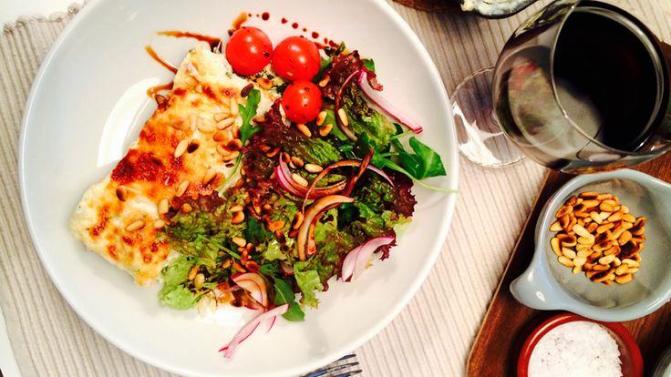 Lasagne med tre oster & spinat