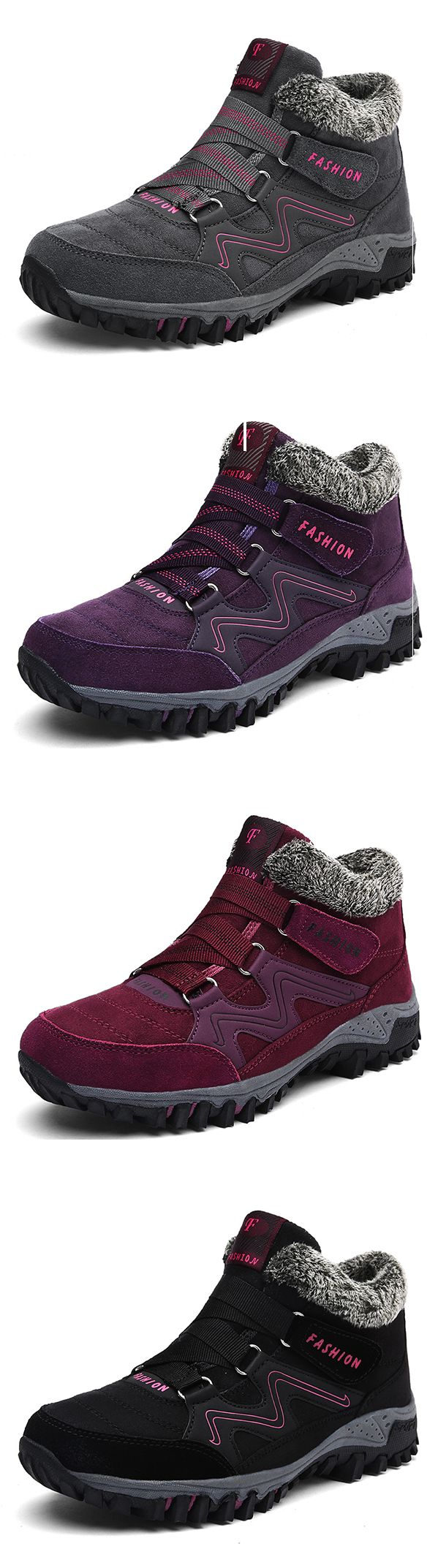 US$29.63 Large Size Hook Loop Casual Boots