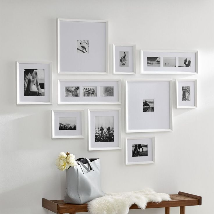 Icon White Frame Gallery Set Of 10 Crate And Barrel Frames On