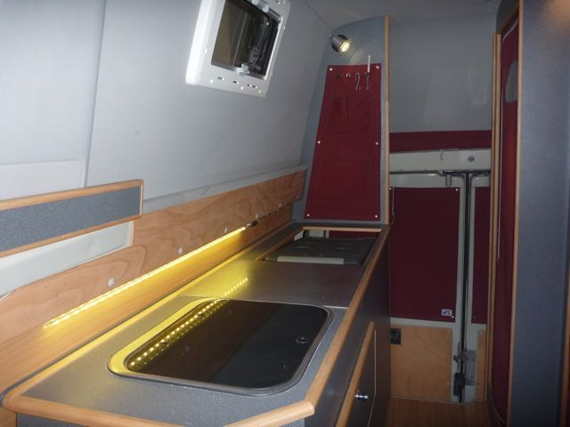 Iglhaut 4x4 Sprinter Camper Interior Showing Galley