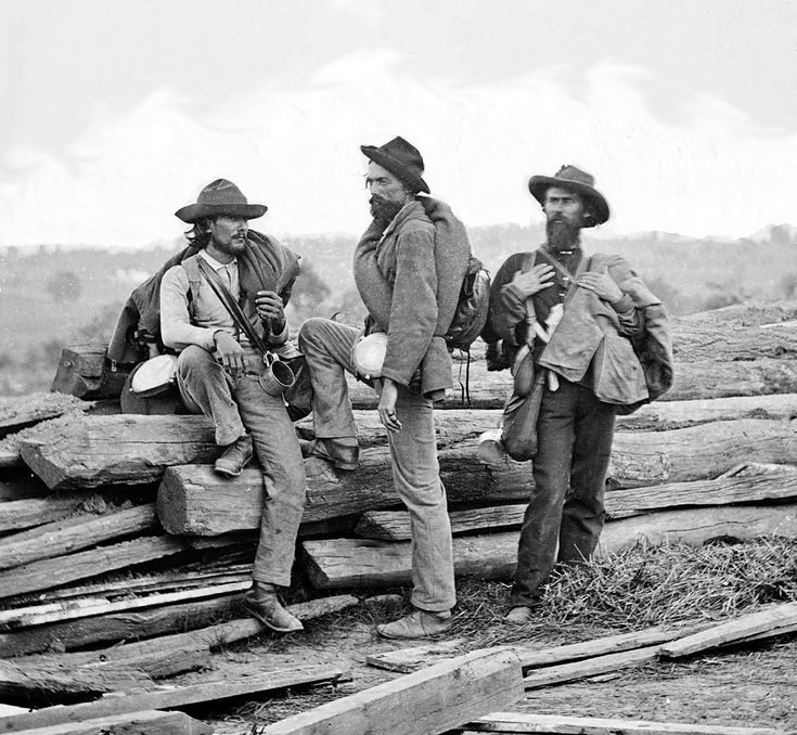 Civil War - Confederate prisoners @ Gettysburg. These were the lucky ones with…