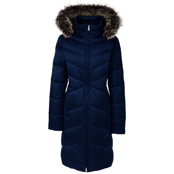Lands' End Women's Plus Size Petite Shimmer Down Coat ($219) ❤ liked on Polyvore featuring plus size women's fashion, plus size clothing, plus size outerwear, plus size coats, coats, blue, blue coat, cold weather coats, insulated coat and plus size down coats