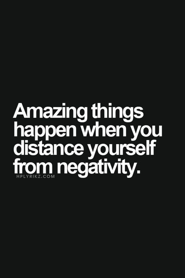 #morningthoughts #quote Amazing things happen when you distance yourself from negativity