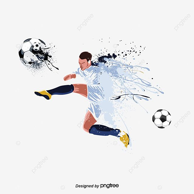 Football Player Png And Psd Football Players Football Background Football Illustration