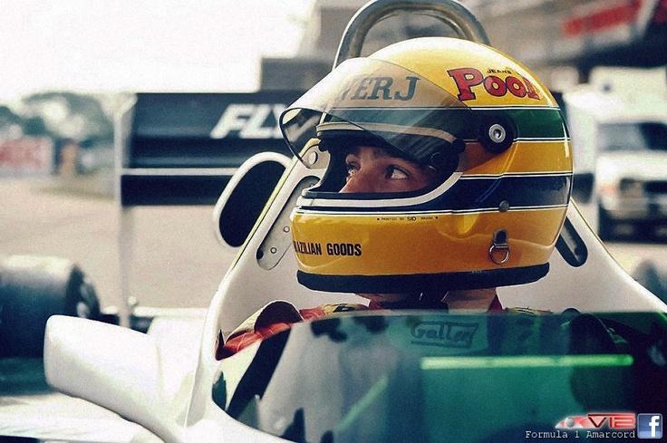 f1 Ayrton Senna-Test 1983 on Williams FW08C