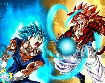 Vegetto Super Saiyan Blue Vs Gogeta Super Saiyan 4 Print