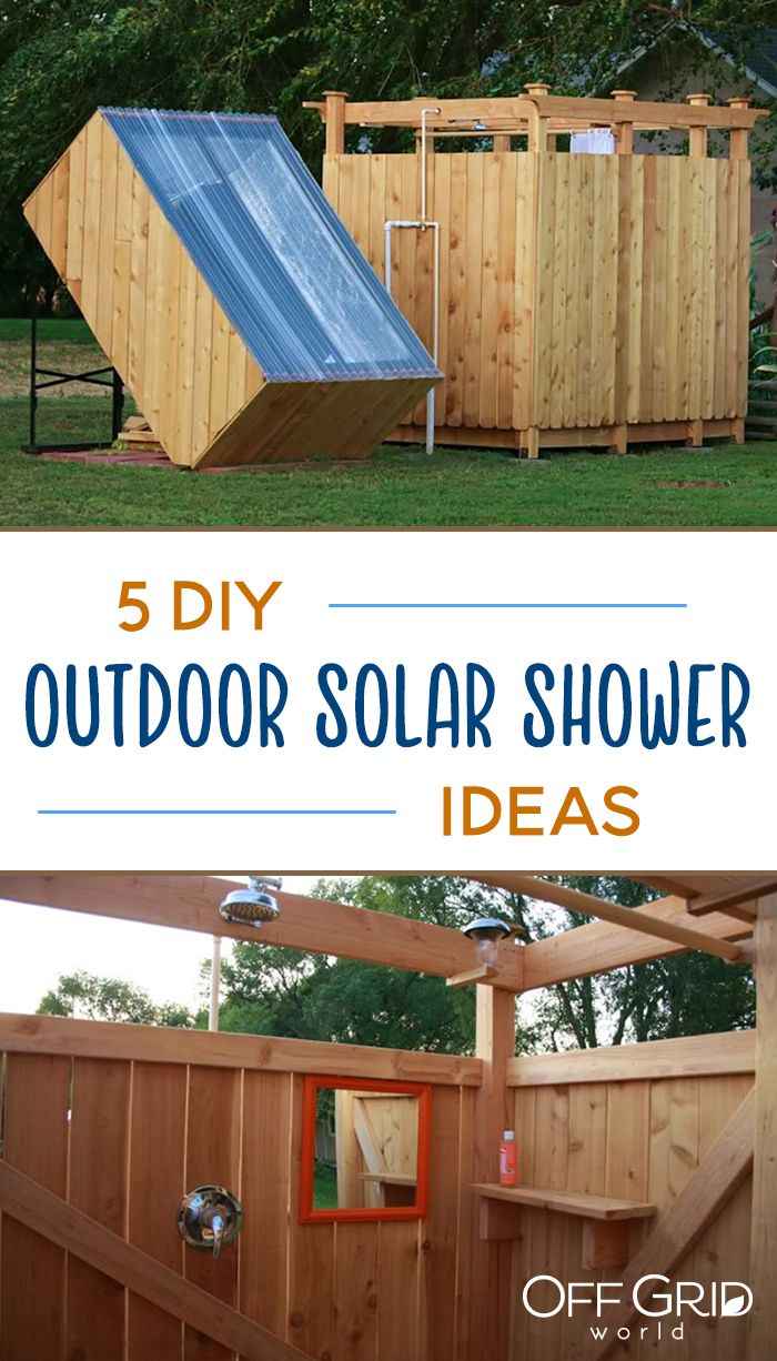 5 Diy Outdoor Solar Shower Ideas Off Grid World Solar Shower Outdoor Solar Shower Outdoor Camping Shower
