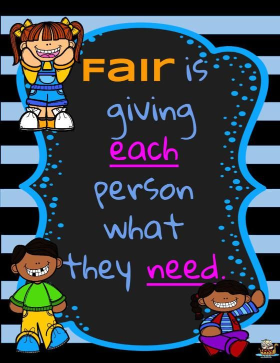 Fair is not equal lesson plan and free posters to help your students