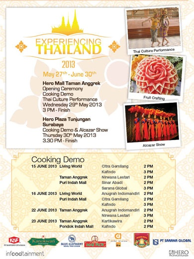 Experiencing Thailand Jangan lewatkan Thailand Cooking Demo (27th May - 30th June 2013)