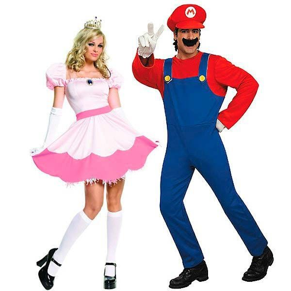 Paare-Ideen Super-Mario Männerkostüm Prinzessin Mädchenkostüm