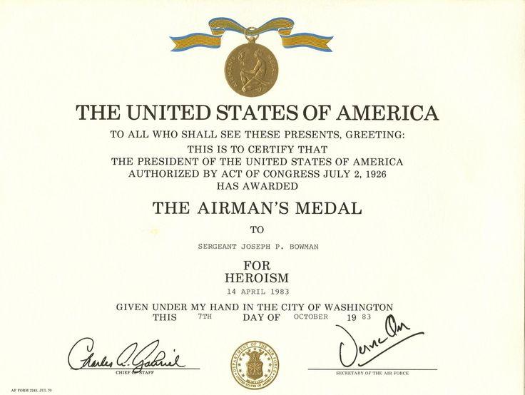 Purple heart medal on Pinterest Purple heart award, Military - army certificate of appreciation