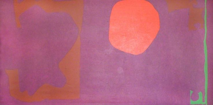 Violet and Venetian, Scarlet and Emerald by Patrick Heron (1969) Oil on canvas, 208 x 457 cm