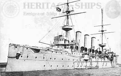 H.M.S. Highflyer which sunk the Kaiser Wilhelm der Grosse (the same ship which was present during the Halifax explosion btw,)