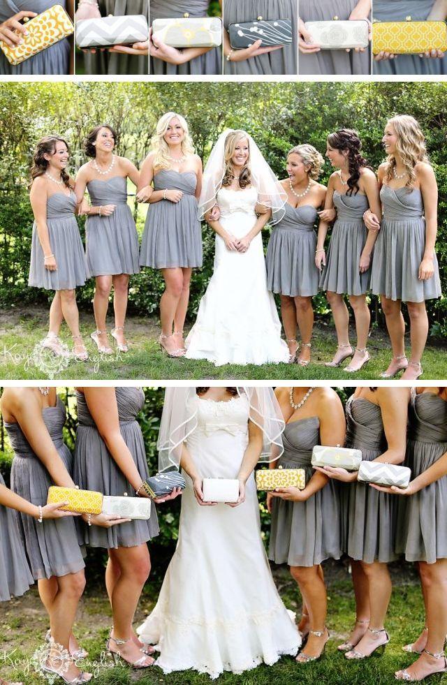 Znalezione obrazy dla zapytania szare suknie dla druhen