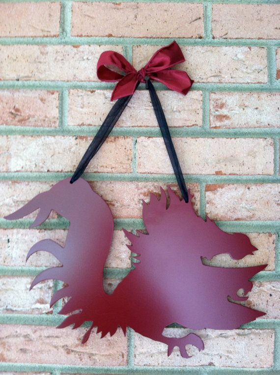 South Carolina Gamecocks Metal Sign--Can be Personalized on Etsy, $37.00
