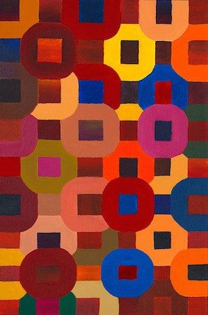 Wall art peinture moderne abstraite g om trique du foyer for Peinture moderne geometrique