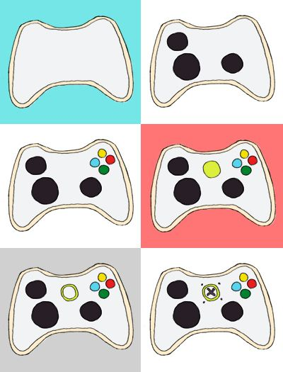 Video game controller cookie how to.