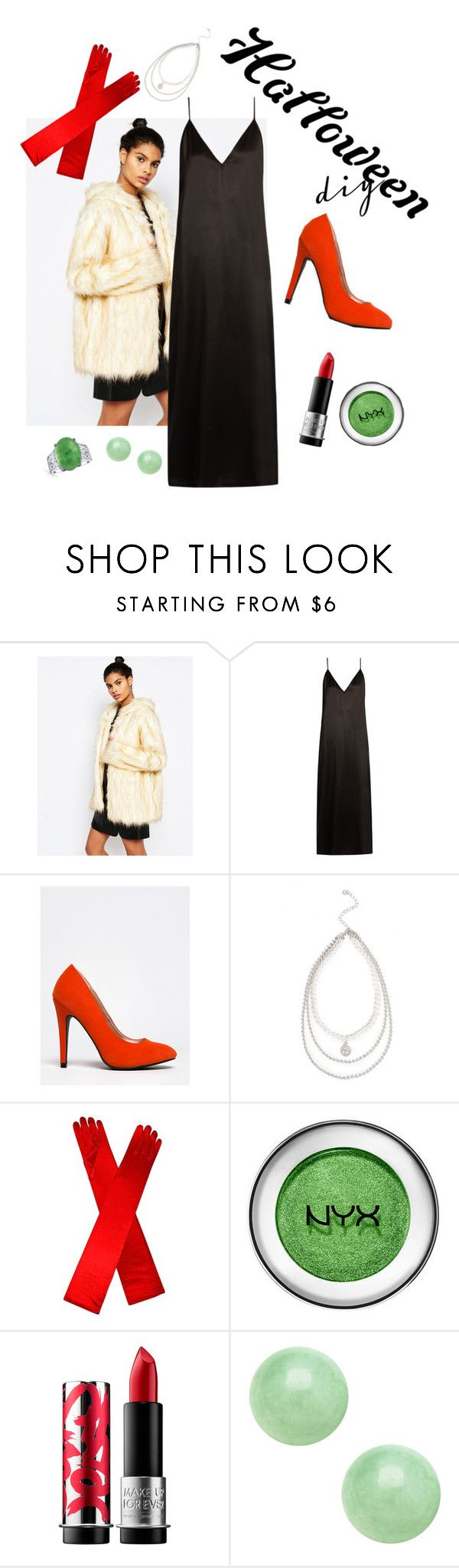 """DIY Cruella Deville Costume"" by balletabbi ❤ liked on Polyvore featuring Story of Lola, Raey, Qupid, MAKE UP FOR EVER, Bling Jewelry, halloweencostume and DIYHalloween"