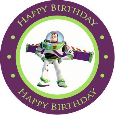 Toy Story Buzz Lightyear Personalized Stickers 1